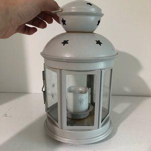 Light grey stars lantern